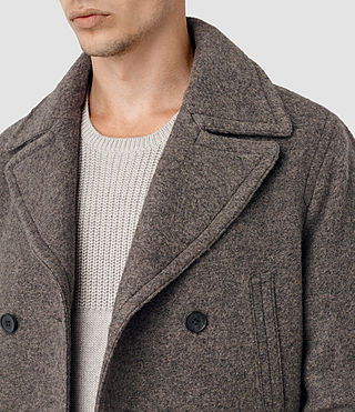 Mens Fyfe Peacoat (Grey) - product_image_alt_text_4