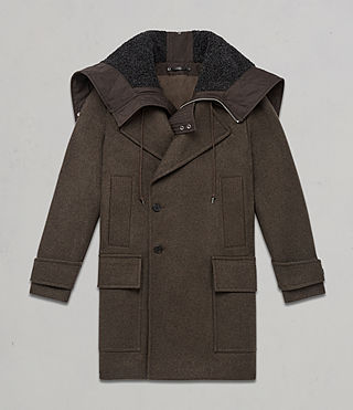 Hommes Manteau Elston (Khaki Brown) - Image 10