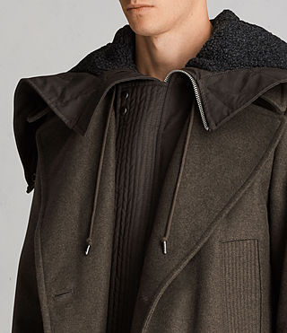 Hommes Manteau Elston (Khaki Brown) - Image 2