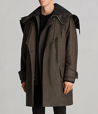 Hommes Manteau Elston (Khaki Brown) - Image 3