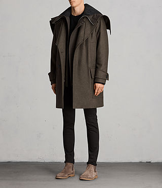 Hommes Manteau Elston (Khaki Brown) - Image 4