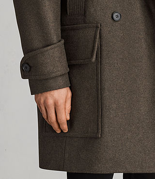 Hommes Manteau Elston (Khaki Brown) - Image 5
