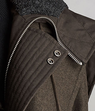 Hommes Manteau Elston (Khaki Brown) - Image 6
