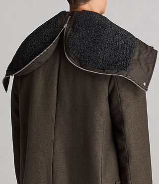 Hommes Manteau Elston (Khaki Brown) - Image 7