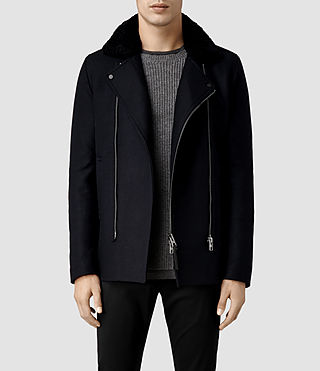 Mens Regent Pea Coat (Ink)