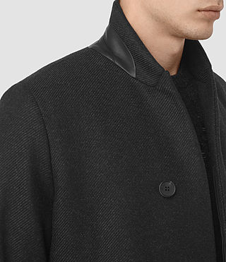 Uomo Lovell Coat (Black/Charcoal) - product_image_alt_text_2