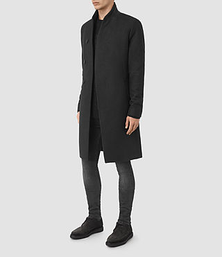 Uomo Lovell Coat (Black/Charcoal) - product_image_alt_text_3