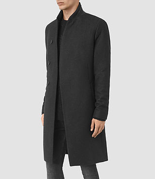 Uomo Lovell Coat (Black/Charcoal) - product_image_alt_text_4
