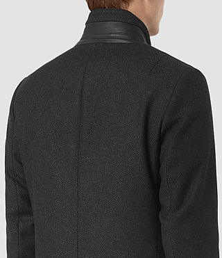 Uomo Lovell Coat (Black/Charcoal) - product_image_alt_text_5