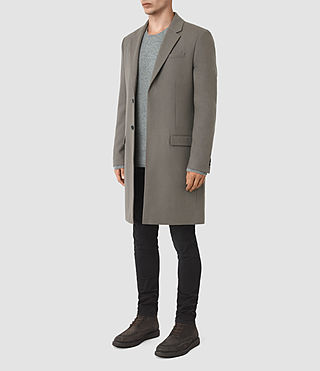 Hommes Rainer Coat (Light Khaki) - product_image_alt_text_2