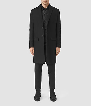 Mens Rainer Coat (Black) - product_image_alt_text_1