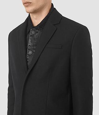 Mens Rainer Coat (Black) - product_image_alt_text_2