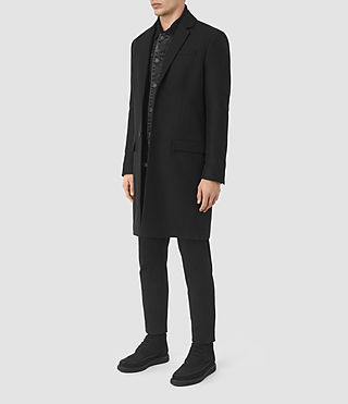 Men's Rainer Coat (Black) - product_image_alt_text_3
