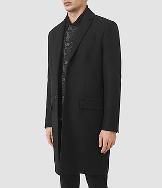 Mens Rainer Coat (Black) - product_image_alt_text_4