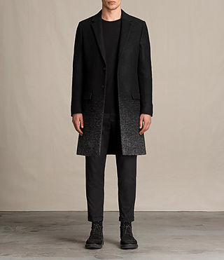 Mens Bodin Coat (Black/Charcoal) - product_image_alt_text_1