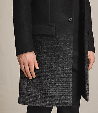 Mens Bodin Coat (Black/Charcoal) - product_image_alt_text_2