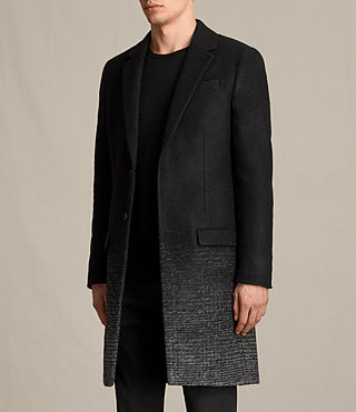 Mens Bodin Coat (Black/Charcoal) - product_image_alt_text_4