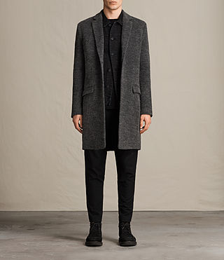 Mens Abel Coat (Dark Grey) - product_image_alt_text_1