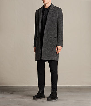Mens Abel Coat (Dark Grey) - product_image_alt_text_3