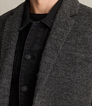 Mens Abel Coat (Dark Grey) - product_image_alt_text_5