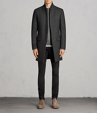 Uomo Cappotto Falun (Charcoal Grey)