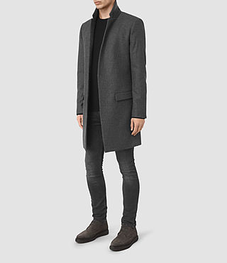 Uomo Navan Coat (Charcoal Grey) - product_image_alt_text_2