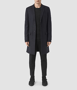 Mens Arklow Coat (Dark Ink) - product_image_alt_text_1