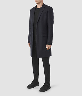 Mens Arklow Coat (Dark Ink) - product_image_alt_text_3