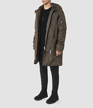 Men's Mason Parka Coat (Khaki Brown)