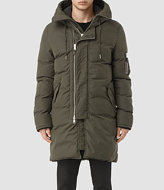 Mens Hayes Parka Coat (Khaki) - product_image_alt_text_1