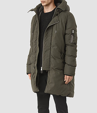Mens Hayes Parka Coat (Khaki) - product_image_alt_text_2