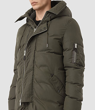 Mens Hayes Parka Coat (Khaki) - product_image_alt_text_3
