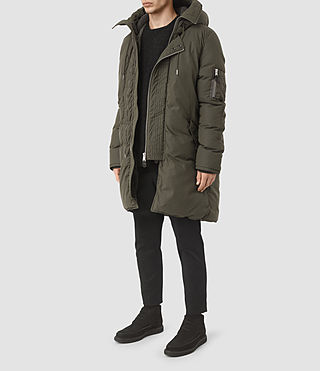 Mens Hayes Parka Coat (Khaki) - product_image_alt_text_4