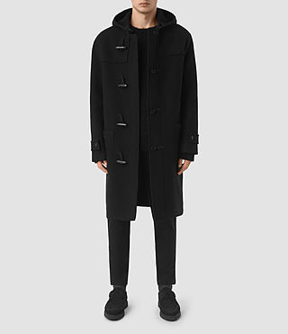 Herren Murrow Duffle Coat (Black)