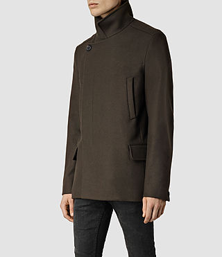 Hombre Wade Peacoat (Dark Khaki Green) - product_image_alt_text_2