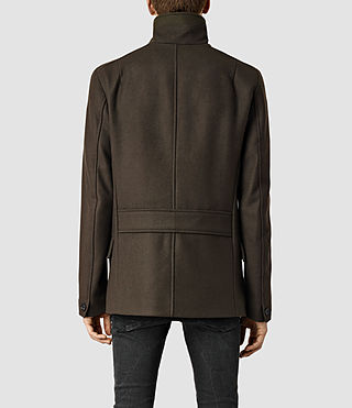 Hombre Wade Peacoat (Dark Khaki Green) - product_image_alt_text_3
