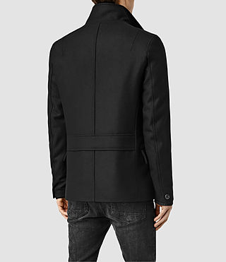 Mens Wade Pea Coat (Black) - product_image_alt_text_3