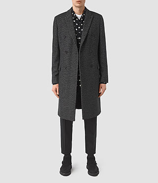 Mens Refine Coat (Black/White)