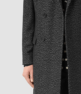 Uomo Refine Coat (Black/White) - product_image_alt_text_2
