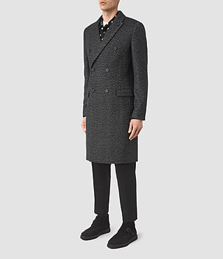 Hommes Refine Coat (Black/White) - product_image_alt_text_3