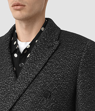 Uomo Refine Coat (Black/White) - product_image_alt_text_4
