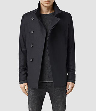 Mens Wade Pea Coat (Ink)