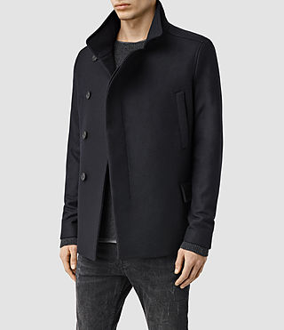 Mens Wade Pea Coat (Ink) - product_image_alt_text_2