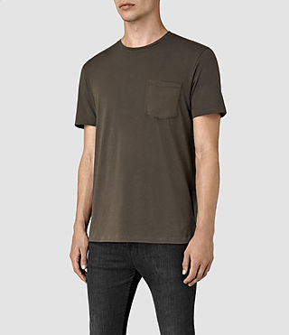 Uomo Apollo Ss Crew (Khaki Brown) - product_image_alt_text_3