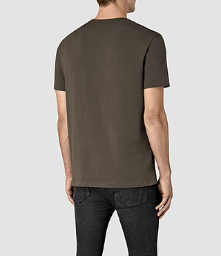 Uomo Apollo Ss Crew (Khaki Brown) - product_image_alt_text_4