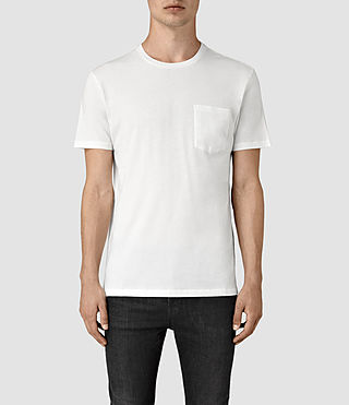 Hombres Apollo Crew T-Shirt (Chalk White) -