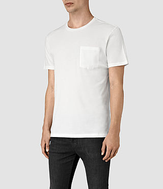 Hombres Apollo Crew T-Shirt (Chalk White) - product_image_alt_text_3