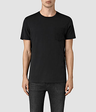 Hommes Apollo Crew T-Shirt (Black/Black) -