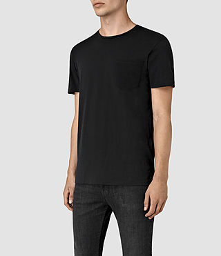 Mens Apollo Crew T-Shirt (Black/Black) - product_image_alt_text_3