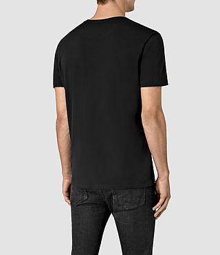 Hommes Apollo Crew T-Shirt (Black/Black) - product_image_alt_text_4